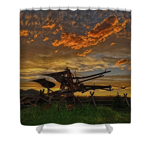 Beartooth Plow Shower Curtain