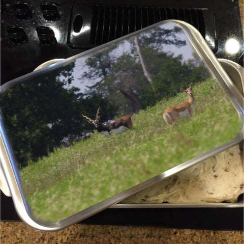 Black Buck and Doe Cake Pan with Lid