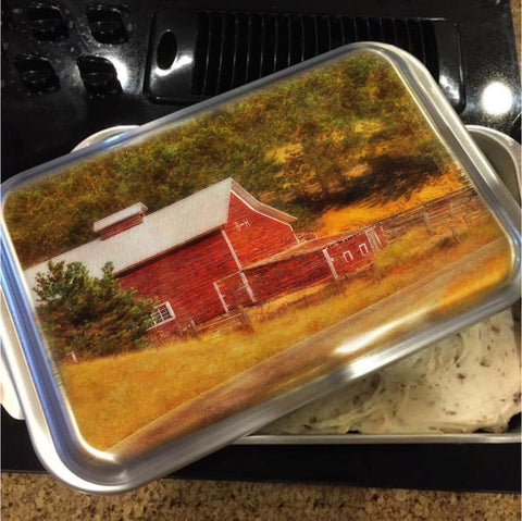 Autumn's Black Hills Barn Cake Pan with Lid