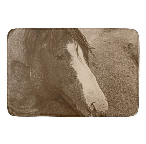 Blaze N Gray Bath Mat