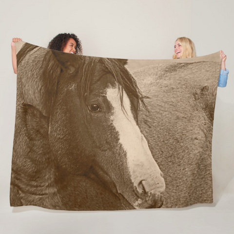Blaze N Gray Fleece Blanket