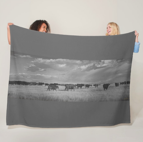 Blazing the Afternoon Trails Fleece Blanket