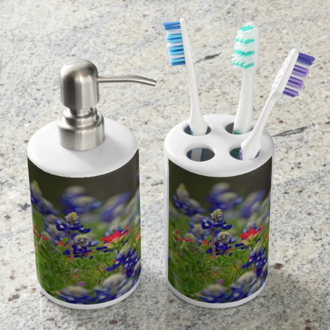 Blue Bonnets and a Paintbrush Bathroom Set
