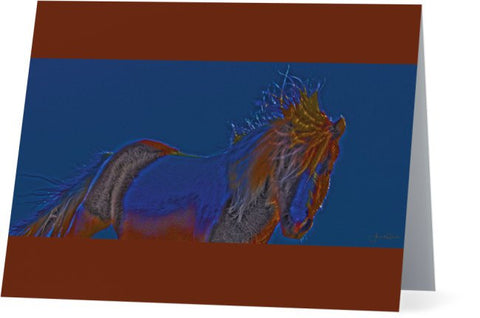 Blue Stallion Note Cards and Greeting Cards (25 Pack)