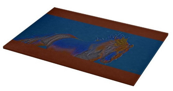 Blue Stallion Cutting Board
