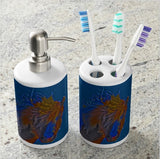 Blue Stallion Bathroom Set