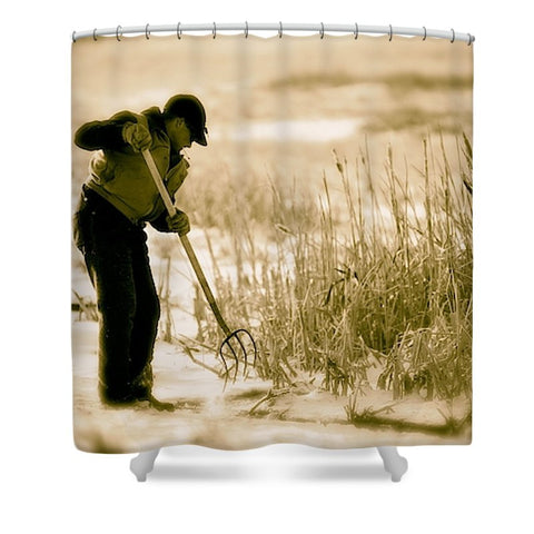 Breaking Wyoming Ice Shower Curtain