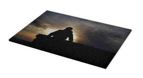 Bucking Hay At Sunrise Cutting Board