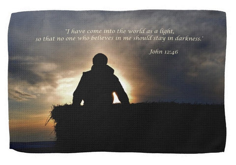Bucking Hay at Sunrise Inspirational Kitchen Towel