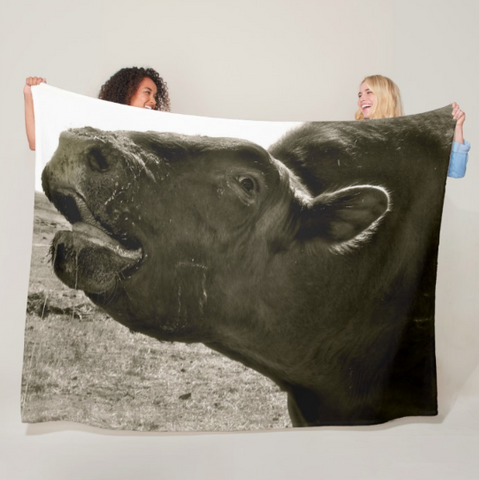 Bull Call Fleece Blanket