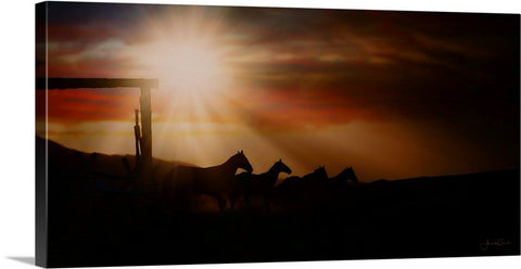 Caballo Sunset Canvas Print