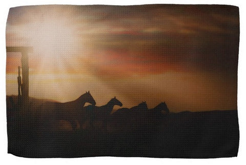Caballo Sunset Kitchen Towel