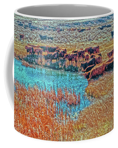 Cattails, Cattle And Sage Mug