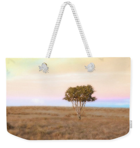 Cedar Tree at Sunset Weekender Tote bag