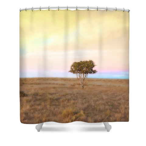 Cedar Tree at Sunset Shower Curtain