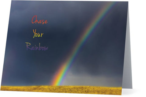 Chase Your Rainbow Note Cards and Greeting Cards (25 Pack)