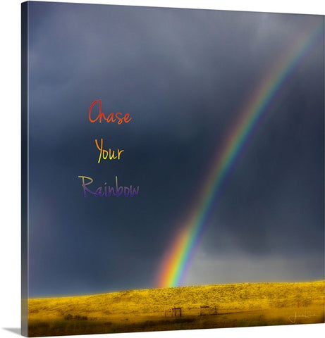 Chase Your Rainbow Canvas Print