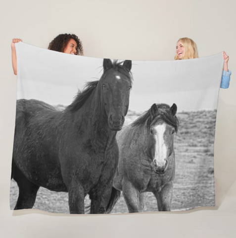 Coated Curiosity Fleece Blanket