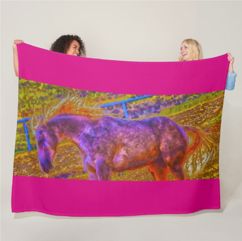 Colors in Sync Fleece Blanket