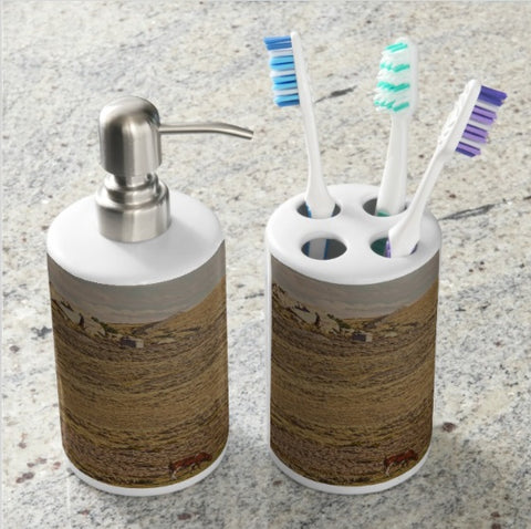 Corriente Bathroom Set