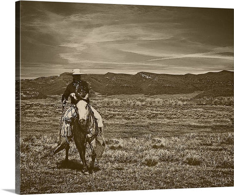 Cowboy Ride Canvas Print