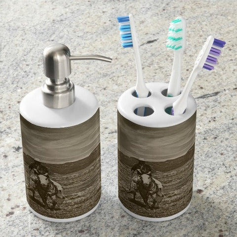 Cowboy Ride Bathroom Set
