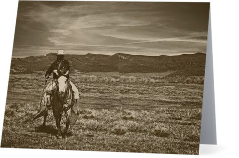 Cowboy Ride Note Cards and Greeting Cards (25 Pack)