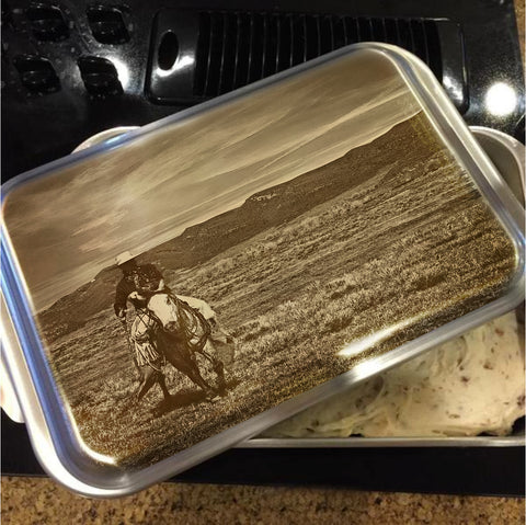 Cowboy Ride Cake Pan with Lid