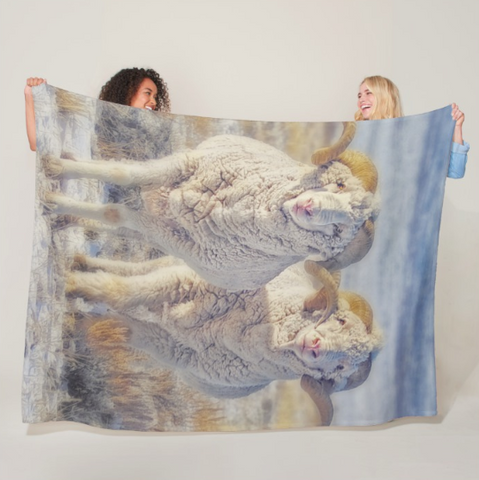 Double the Ram Power Fleece Blanket