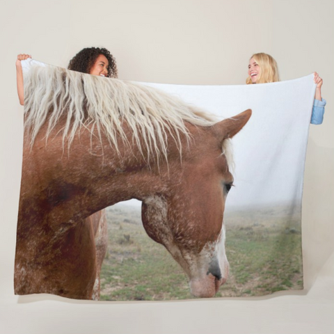 Dreaming in the Mist Fleece Blanket