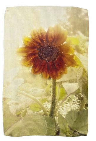 Dusty Retro Sunflower Kitchen Towel