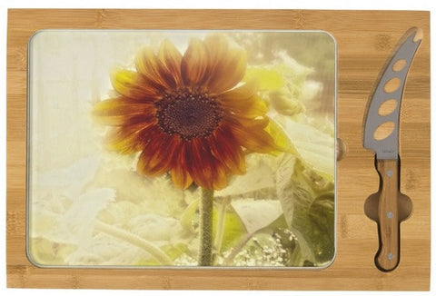 Dusty Retro Sunflower Cheese Board