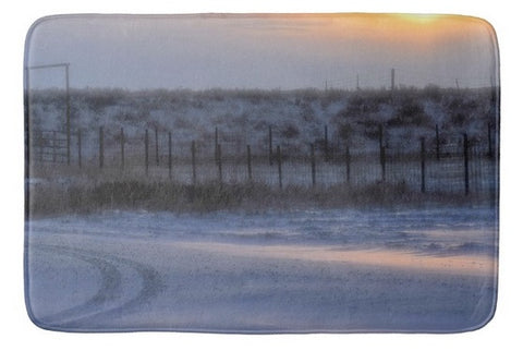 Early Morning Winter Bath Mat