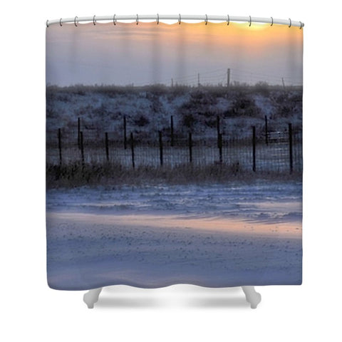 Early Morning Winter Shower Curtain