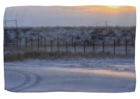 Early Morning Winter Kitchen Towel