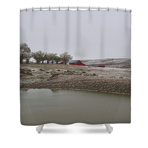 Early Wyoming Winter Shower Curtain
