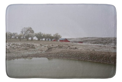 Early Wyoming Winter Bath Mat