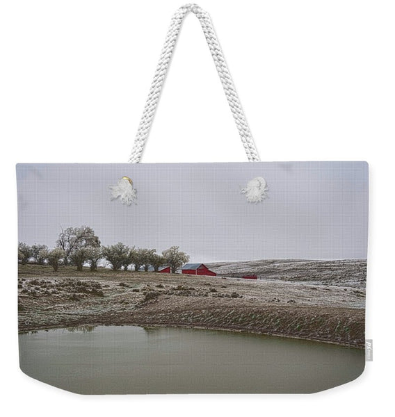 Early Wyoming Winter Weekender Tote bag