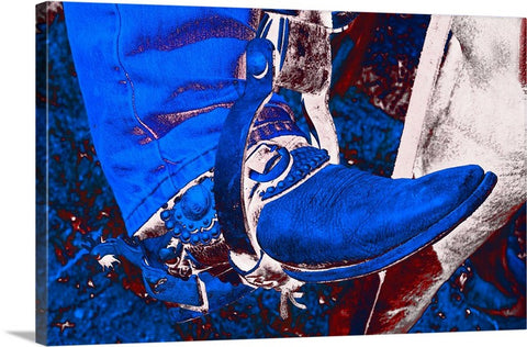 Electric Cowboy Boot Canvas Print