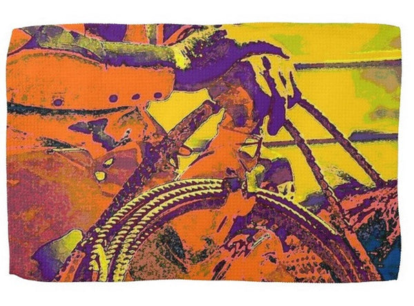 Electric Cowboy Kitchen Towel