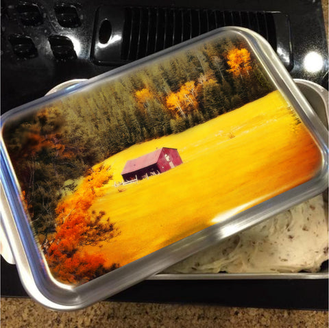 Fall on a South Dakota Meadow Cake Pan with Lid