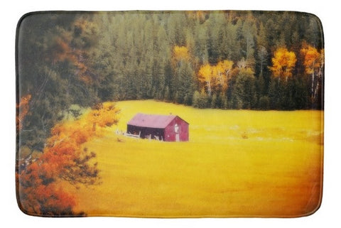 Fall on a South Dakota Meadow Bath Mat