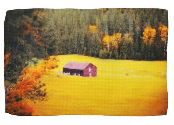 Fall on a South Dakota Meadow Kitchen Towel
