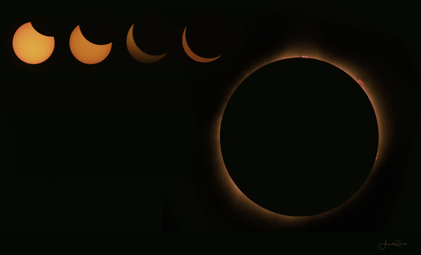 Eclipse 2017 No Text Canvas Print