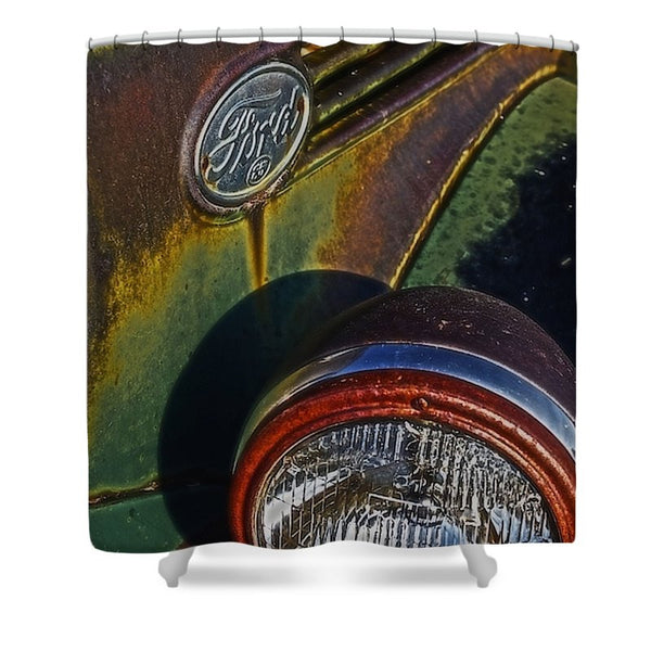 Ford Headlight Shower Curtain