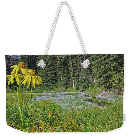 Gold And Pines Weekender Tote bag