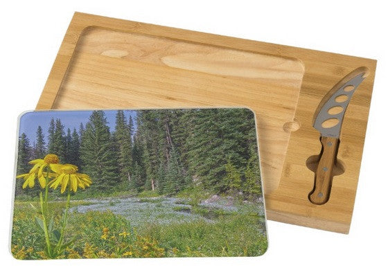 Gold and Pines Cheese Board