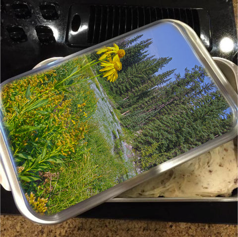 Gold And Pines Cake Pan with Lid