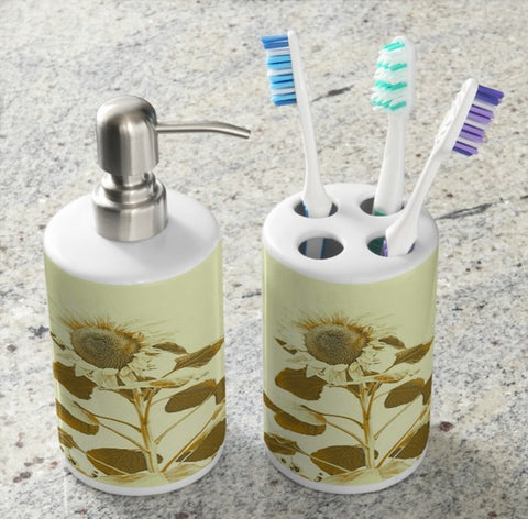 Golden Rayed Bathroom Set