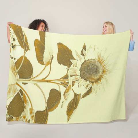Golden Rayed Fleece Blanket